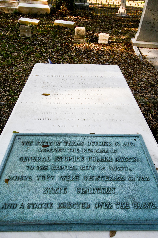 Stephen F. Austin Original Burial Site